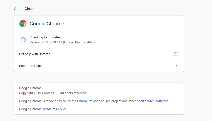 Updating Chrome(browser) may solve class not registered error