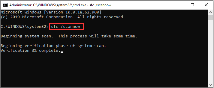 sfs scannow command