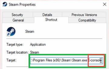 target-console-in-steam-properties