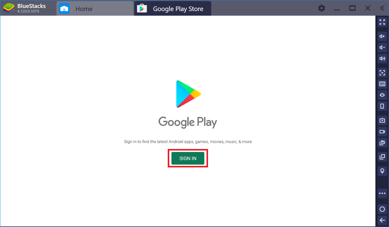 BlueStacks google id